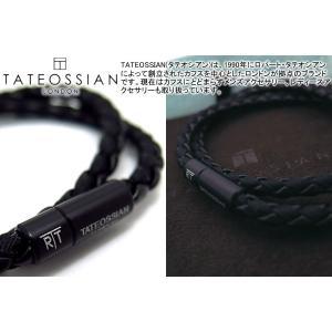 TATEOSSIAN タテオシアン チェルシーブレスレット(ブラックブラック) (レザーブレスレット) ブランド|cufflink