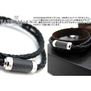 TATEOSSIAN タテオシアン モンテカルロシルバーブレスレット(ブラック) (レザーブレスレット) ブランド|cufflink