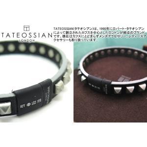 TATEOSSIAN タテオシアン スタッズブレスレット(ブラック&ブラッククラスプ) (レザーブレスレット) ブランド|cufflink