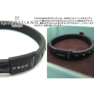 TATEOSSIAN タテオシアン ボーホーブレスレット(ブラック&ブラッククラスプ) (レザーブレスレット) ブランド|cufflink