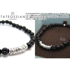 TATEOSSIAN タテオシアン シルバーディスクラウンドブレスレット(オニキス)  (パワーストーンブレスレット) ブランド|cufflink