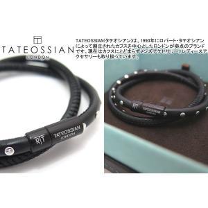 TATEOSSIAN タテオシアン ミニスタッズブレスレット(ブラック) (レザーブレスレット) ブランド|cufflink