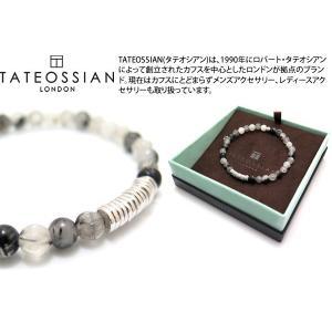 【P10倍】 TATEOSSIAN タテオシアン ビーズ シルバークラシックディスクスブレスレット(ブラックルチレイテッドクォーツ) - ブランド|cufflink