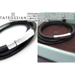 TATEOSSIAN タテオシアン フェットゥチーネシルバーブレスレット(ブラック) (レザーブレスレット) ブランド|cufflink