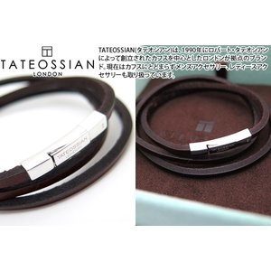 TATEOSSIAN タテオシアン フェットゥチーネシルバーブレスレット(ブラウン) (レザーブレスレット) ブランド|cufflink
