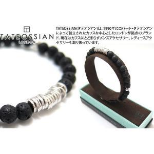 【P10倍】 TATEOSSIAN タテオシアン シルバーディスクラウンドブレスレット(ラバ 溶岩) ブランド|cufflink