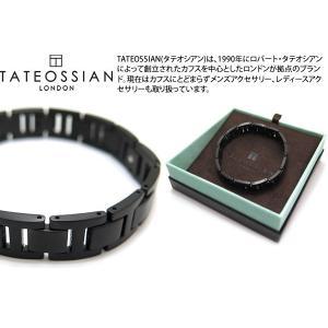 TATEOSSIAN タテオシアン チタニウム&ブラックIPブレスレット - ブランド|cufflink
