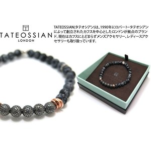 TATEOSSIAN タテオシアン シルバーストーンヘンジブレスレット(黒曜石) ブランド|cufflink