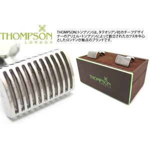 THOMPSON トンプソン グリッドレクタングルカフス(ロジウム) (カフスボタン カフリンクス) ブランド|cufflink