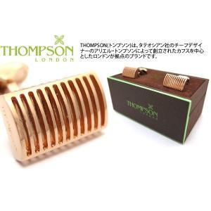 THOMPSON トンプソン グリッドレクタングルカフス(ローズゴールド) (カフスボタン カフリンクス) ブランド|cufflink