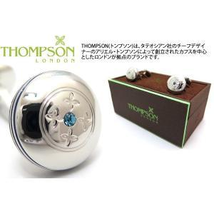 THOMPSON トンプソン スワロフスキータブレットダンベルカフス(ブルー) (カフスボタン カフリンクス) ブランド|cufflink