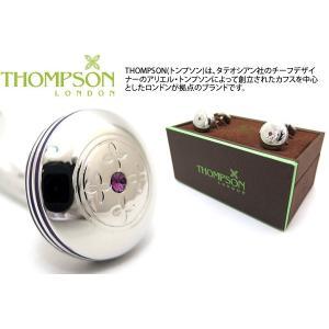 THOMPSON トンプソン スワロフスキータブレットダンベルカフス(パープル) (カフスボタン カフリンクス) ブランド|cufflink
