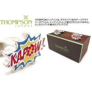 THOMPSON トンプソン スワロフスキーコミックカフス (カフスボタン カフリンクス) ブランド|cufflink