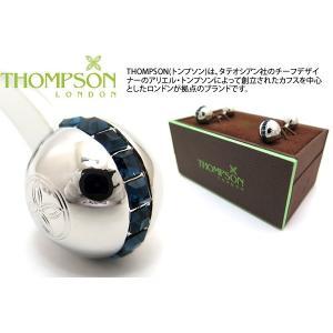 THOMPSON トンプソン スワロフスキースフィアダンベルカフス(ブルー) (カフスボタン カフリンクス) ブランド cufflink