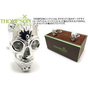 THOMPSON トンプソン グラストンベリーカフス(ロジウム) (カフスボタン カフリンクス) ブランド|cufflink