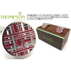 THOMPSON トンプソン タータンカフス(レッド) (カフスボタン カフリンクス) ブランド|cufflink