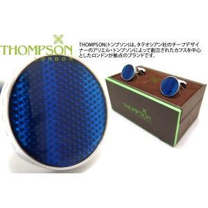 THOMPSON トンプソン テクスチャードウェーブカフス(ブルー) (カフスボタン カフリンクス) ブランド|cufflink