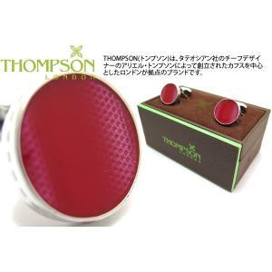 THOMPSON トンプソン テクスチャードウェーブカフス(レッド) (カフスボタン カフリンクス) ブランド|cufflink