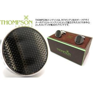 THOMPSON トンプソン テクスチャードウェーブカフス(グレー) (カフスボタン カフリンクス) ブランド|cufflink