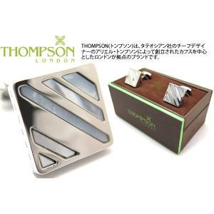 THOMPSON トンプソン スラッシュカフス(白蝶貝、メタル) (カフスボタン カフリンクス) ブランド|cufflink