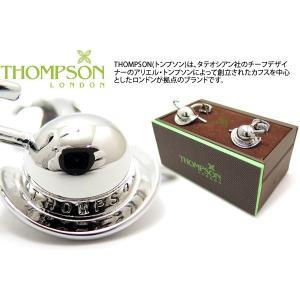 THOMPSON トンプソン ビジネスカフス(ロジウム) (カフスボタン カフリンクス) ブランド|cufflink