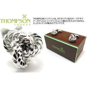 THOMPSON トンプソン ジャギドノットカフス(ロジウム) (カフスボタン カフリンクス) ブランド|cufflink