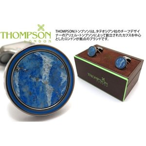 THOMPSON トンプソン タンバーカフス(ガンメタル&ラピスラズリ) (カフスボタン カフリンクス) ブランド|cufflink