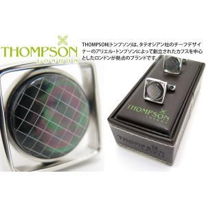 THOMPSON トンプソン セミプレシャスウィンドウカフス(黒蝶貝) (カフスボタン カフリンクス) ブランド cufflink