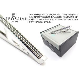 TATEOSSIAN タテオシアン ブレイドタイバー(ロジウム) (タイピン タイクリップ) ブランド cufflink