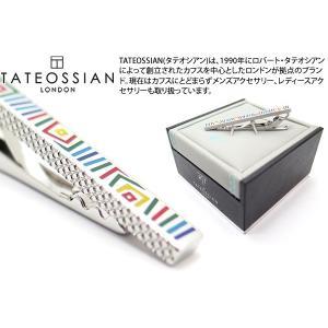 TATEOSSIAN タテオシアン グラフィックロジウム&エナメルタイバー (タイピン タイクリップ) ブランド|cufflink