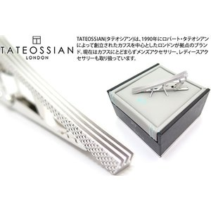 P10倍 TATEOSSIAN タテオシアン グラフィックロジウムタイバー(タイプ2) (タイピン タイクリップ) ブランド|cufflink