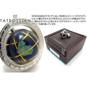 TATEOSSIAN タテオシアン 地球儀シルバーピンズ (ラペルピン スタッズ) ブランド|cufflink