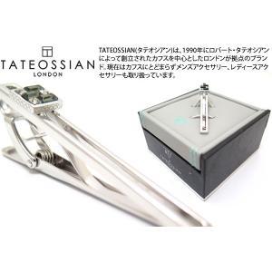 TATEOSSIAN タテオシアン スワロフスキーインターロックウィンドウタイバー(ブラックダイヤモンド) (タイピン タイクリップ) ブランド|cufflink