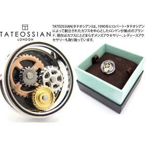TATEOSSIAN タテオシアン カーボンファイバーギアピンズ (スタッズ ブローチ) ブランド|cufflink
