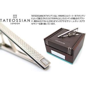 TATEOSSIAN タテオシアン シルバーチェッカータイバー(白蝶貝) (タイピン タイクリップ) ブランド|cufflink