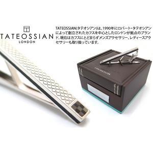 TATEOSSIAN タテオシアン シルバーチェッカータイバー(オニキス&黒蝶貝) (タイピン タイクリップ) ブランド|cufflink