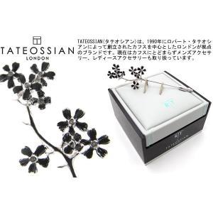 TATEOSSIAN タテオシアン チェリーブロッサムラペルピン(ブラック) (ブローチ) ブランド|cufflink