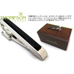 THOMPSON トンプソン クラシック半貴石タイバー(オニキス) (タイピン タイクリップ) ブランド|cufflink