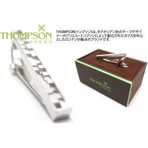 THOMPSON トンプソン レベルズハイトタイクリップ(ロジウム) (タイピン タイクリップ) ブランド|cufflink