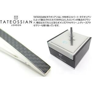 TATEOSSIAN タテオシアン カーボンファイバータイバー(ブラック) (タイピン タイクリップ) ブランド|cufflink