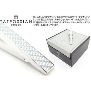 TATEOSSIAN タテオシアン カーボンファイバータイバー(グレイ) (タイピン タイクリップ) ブランド cufflink