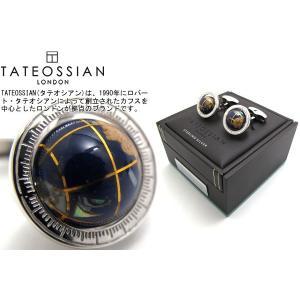 TATEOSSIAN タテオシアン 地球儀モチーフスルバーカフス2 (カフスボタン カフリンクス) ブランド|cufflink