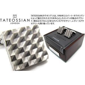 TATEOSSIAN タテオシアン チタニウム折り紙カフス(ハニカム) (カフスボタン カフリンクス) ブランド|cufflink