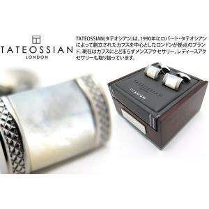 TATEOSSIAN タテオシアン チタニウムレクタングルDシェイプカフス(白蝶貝) (カフスボタン カフリンクス) ブランド|cufflink