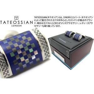 TATEOSSIAN タテオシアン チタニウムDシェイプカフス(ラピスラズリ、黒蝶貝) (カフスボタン カフリンクス) ブランド|cufflink