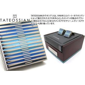 TATEOSSIAN タテオシアン チタニウムグラフィックエナメルカフス(ブルー) (カフスボタン カフリンクス) ブランド|cufflink