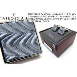 TATEOSSIAN タテオシアン チタニウムレザーカフス(ウェーブ) (カフスボタン カフリンクス) ブランド|cufflink