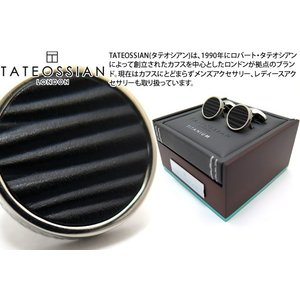 TATEOSSIAN タテオシアン チタニウムレザーカフス(サージ) (カフスボタン カフリンクス) ブランド|cufflink