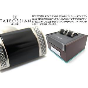 TATEOSSIAN タテオシアン チタニウムレクタングルDシェイプカフス(オニキス) (カフスボタン カフリンクス) ブランド|cufflink