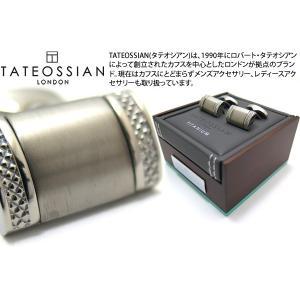 TATEOSSIAN タテオシアン モノクロームチタニウムカフス(ブラッシュ仕上げ) (カフスボタン カフリンクス) ブランド|cufflink